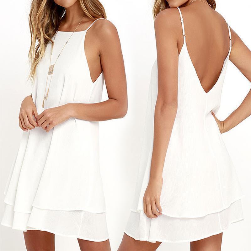 2020 Women Summer Dress Boho Style Off Shoulder Sleeveless Chiffon Beach Dress Tunic Sundress Loose Party Dress Vestidos