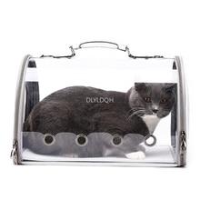 Прозрачная сумка для домашних животных, переносная сумка для кошек и собак, складная дышащая Сумка-переноска, рюкзак для переноски щенка, mascotas