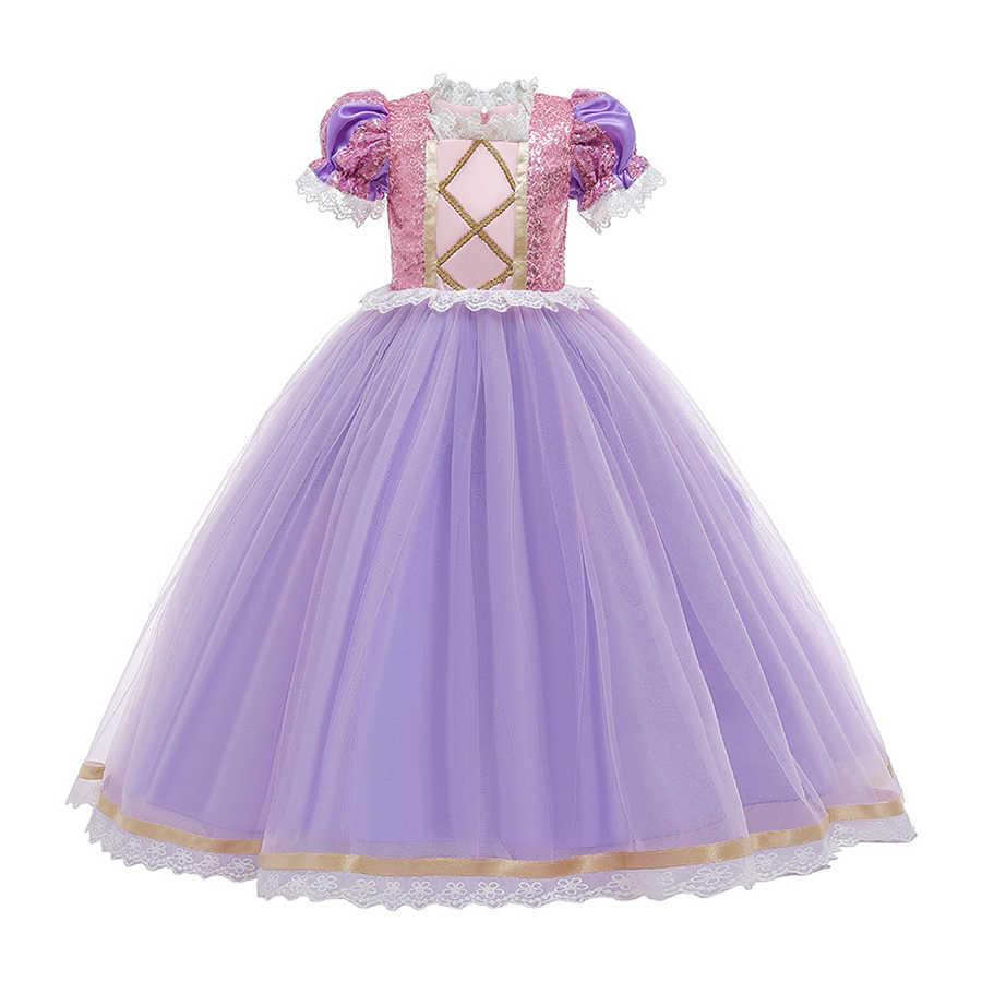 Cosplay kostüm yasemin elbise yaz Casual kar beyaz parti elbise küçük prenses fantezi bebek kız elbise 2-10 yaşında