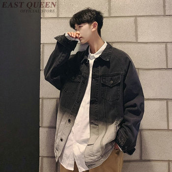 2019 Hip Hop Men Jeans Jacket Coats Streetwear Fashion Unisex Jean Jacket Men Denim Jackets Hipster Outwear Clothes KK2948