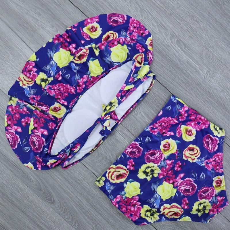 H389cdf6357064654b9b3dba9970aa5426 2019 New Bikinis Women Swimsuit High Waist Bathing Suit Plus Size Swimwear Push Up Bikini Set Vintage Beach Wear Biquini