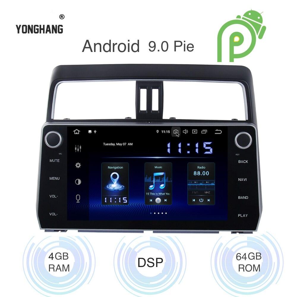 Android 9.0 Autoradio 2 Din GPS Navi per Toyota prado 2018 2019 canbus PX6 DSP IPS HDMI uscita 4 gb + 64Gb RDS WIFI RDS USB carplay