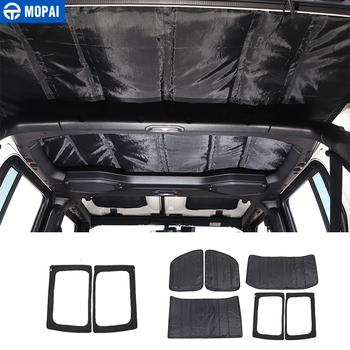 1pc red cloth roof net heavy duty network cargo roof net car hammock storage for jeep wrangler tj jk jku jl 2007 2018 MOPAI for Jeep Wrangler JL 2018+ Car Window Roof Heat Insulation Cotton Pad Kit Accessories for Jeep Wrangler JL 2018 2019+