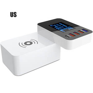 Power-Adapter Charger-Station-Hub Fast-Charging Qi 4 Type-C USB Quick-3.0 Desktop-Strip