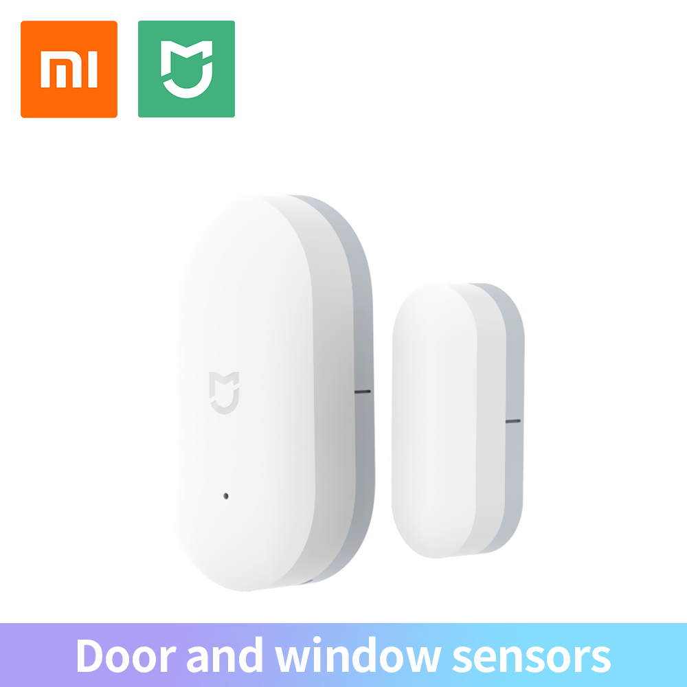 Xiaomi mijia porta janela sensor original xiomi kits de casa inteligente sistema de alarme anti-roubo trabalho com gateway mi casa app bolso tamanho