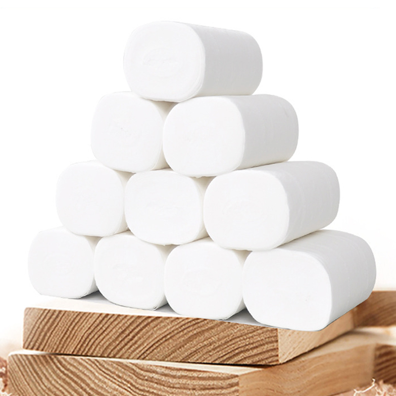 Home Toilet Tissue Bath Toilet Roll Paper Toilet Paper White Toilet Paper Toilet Roll Tissue Roll 10 Pack 4Ply Paper Towels Tiss