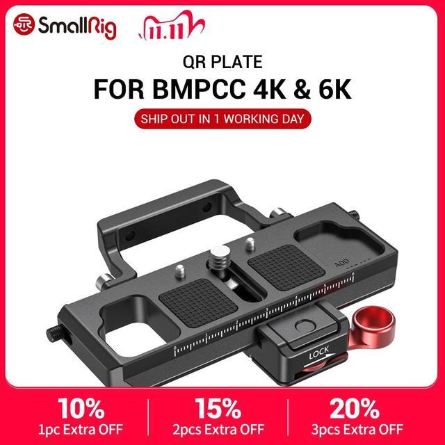 SmallRig DSLR Camera Quick Release Plate Offset Kit for BMPCC 4K & 6K & Ronin S Crane 2 Moza Air 2 Gimbal 2403