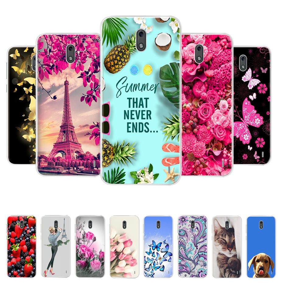 For <font><b>Nokia</b></font> <font><b>2</b></font> <font><b>2</b></font>.1 TA-<font><b>1029</b></font> TA-1080 Case Cover Soft Silicone TPU Fashion Painted Phone Back Cover Protective Case For <font><b>Nokia</b></font> <font><b>2</b></font> <font><b>2</b></font>.1 image