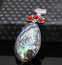 Pendentif en corail à rayures rouges, 41x60mm, bijoux, accessoires de conception, gros cadeaux