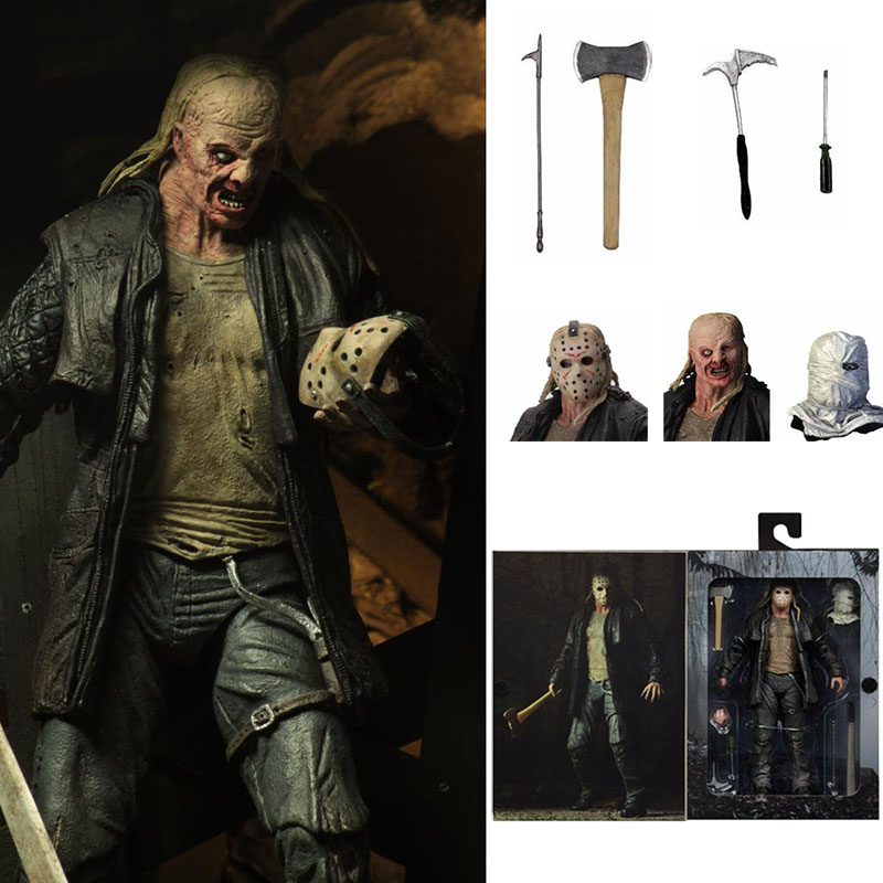7.2inch Original NECA Friday The 13th Jason 2009 Remake Voorhees Action Figure Toy Horror Halloween Gift