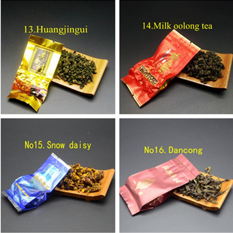 16 Different Flavors Chinese Tea Includes Milk Oolong Pu-erh Herbal Flower Black Green Tea Each tea Two Bags 5