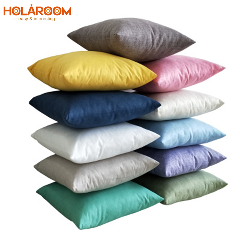Blank Pillowcase Solid Color Cushion Cover Imitation Cotton Linen Pillowcases Sofa Throw Pillowcover 25 Color Home Decorations