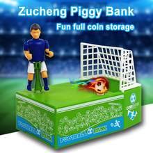 Portería de fútbol eléctrica, alcancía de patadas, caja de ahorro de dinero, juguete, caja de seguridad de plástico para niños, chico y casa