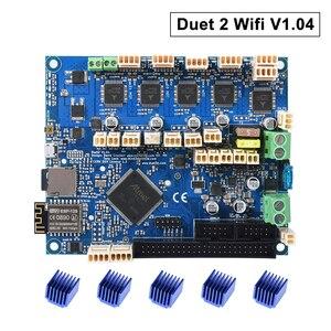 Клонированный Duet 2 Wifi V1.04 обновленная 32 битная плата управления DuetWifi усовершенствованная 32 битная материнская плата для 3D принтера CNC машина...