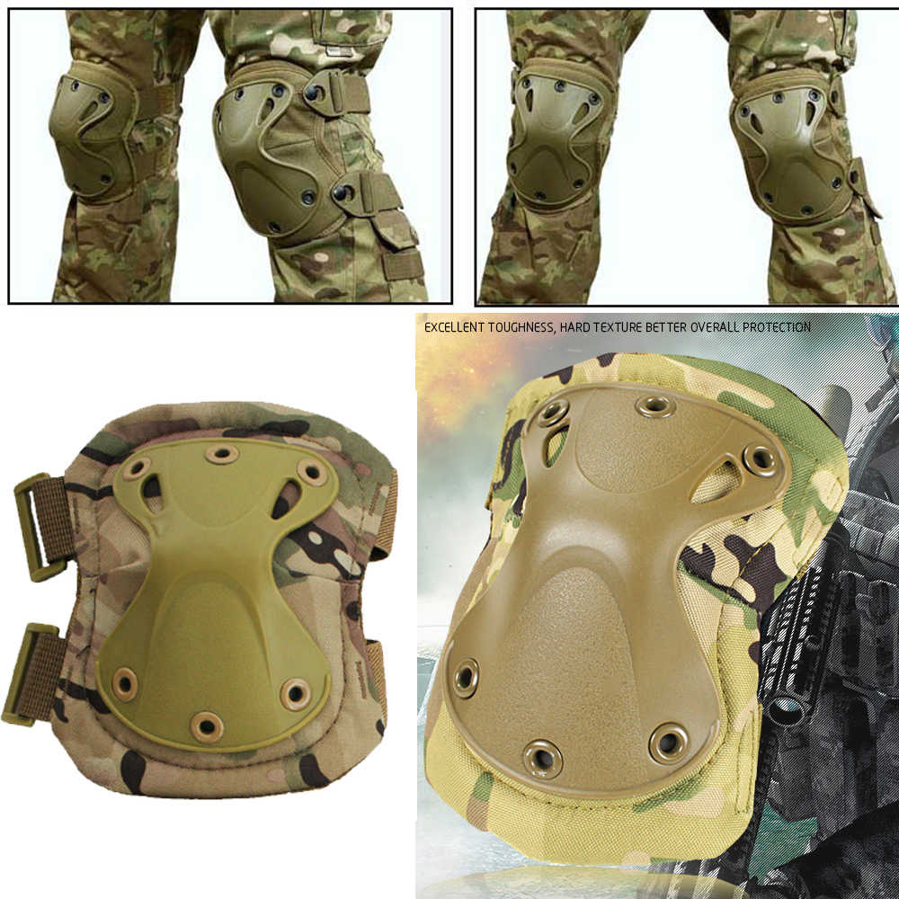 FAVSPORTS Airsoft Army Tactical Military Protective Gear Knee Pads Elbow Pads Sports Safety Combat Hunting Scooter Kneepads