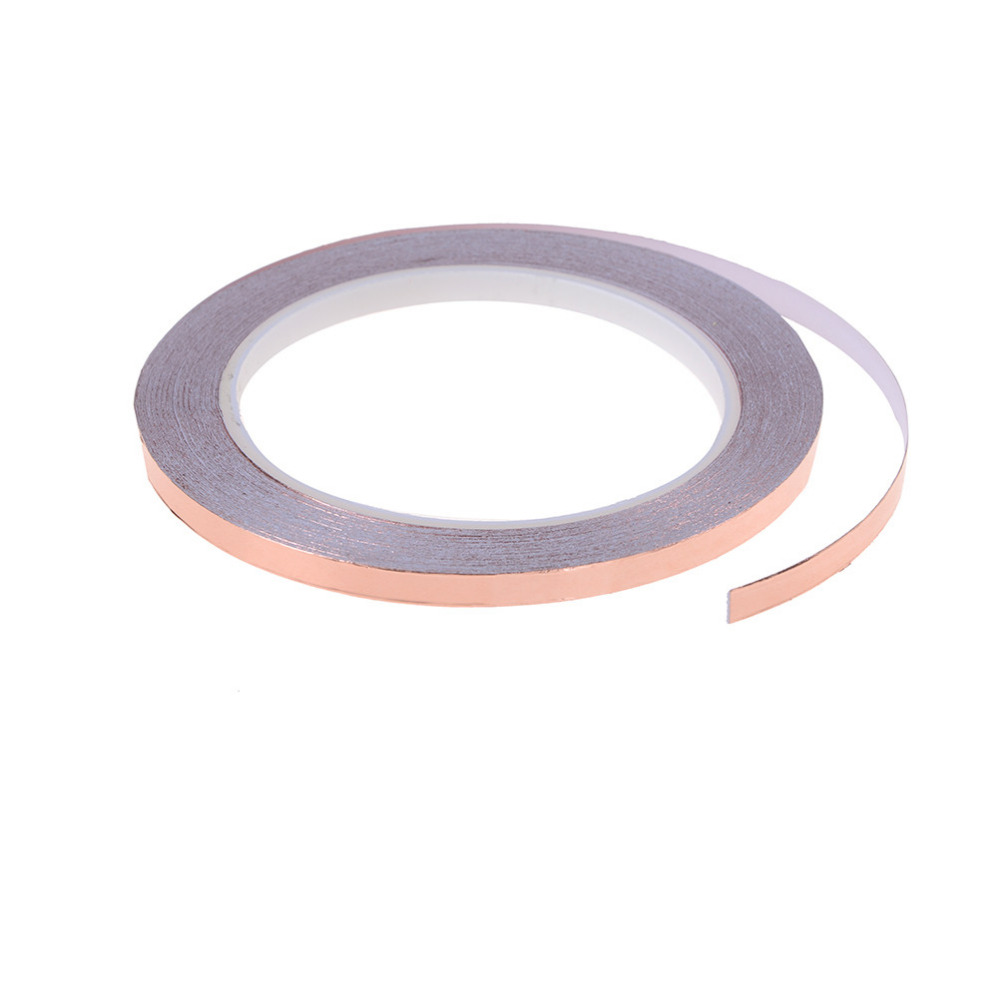 6mm X 20m Single Conductive Adhesive Duct Tape Shielding Copper Tape Foil Great For Slug Repellent EMI Shielding Stained Glass