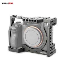 Klatka operatorska MAGICRIG ze standardowymi otworami do mocowania zimnego buta i ARRI dla kamery Sony A7RIII /A7III /A7M3 /A7SII /A7RII /A7II
