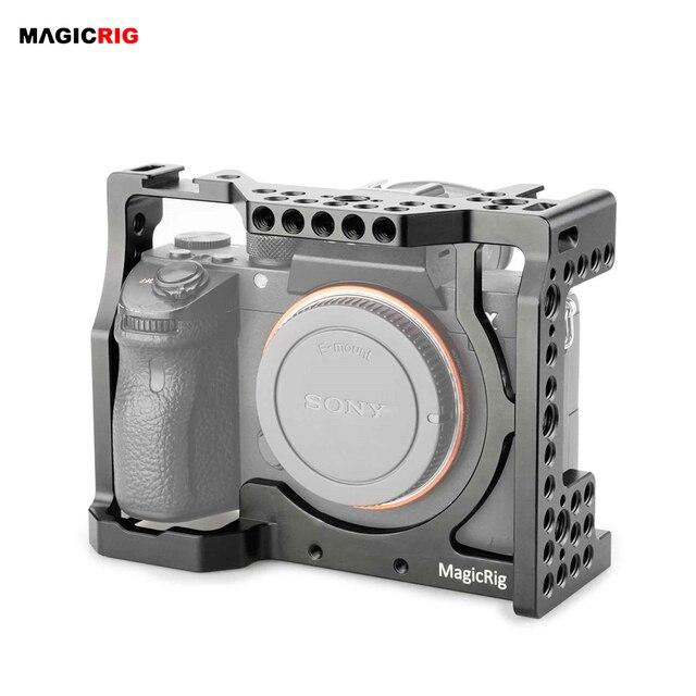 MAGICRIG jaula para cámara con zapata fría estándar y orificios de localización para cámara Sony A7RIII /A7III /A7M3 /A7SII /A7RII /A7II