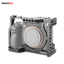 Magicrigミリメートルロッドブロックリグと標準コールドシューとarri位置穴ソニーA7RIII /A7III /A7MII /A7SII /A7RII /A7IIカメラ