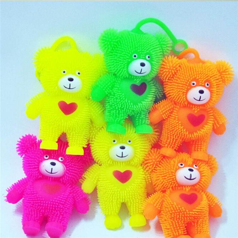 Little Love Bear Glowing Hairball Children Educational Toys - Random