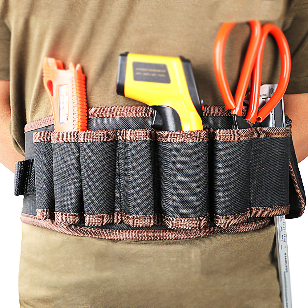 NICEYARD Waist Tool Bag Tools Packaging Electrician Pouch Bag Adjustabe Belt Portable Electricians Tool Storage Holder