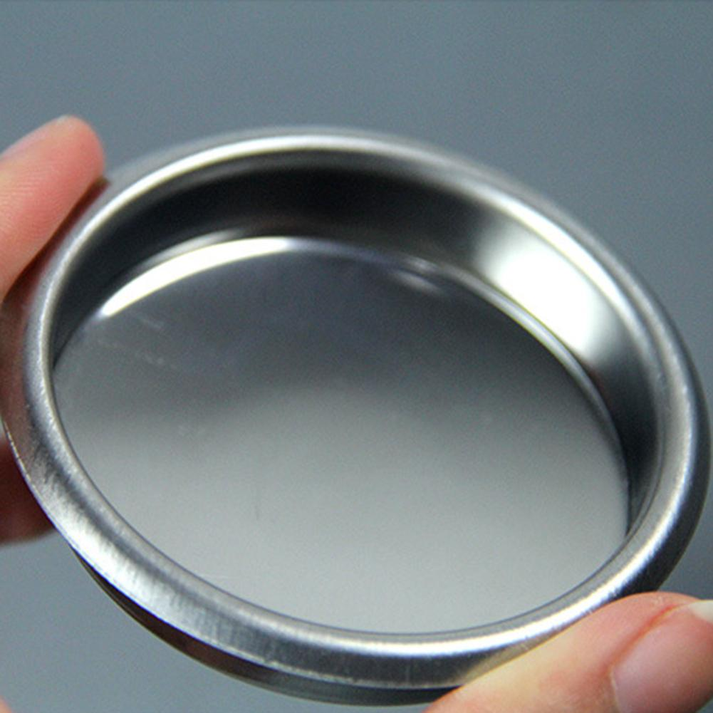 58mm Mini Metal Blind Filter Backflush Insert Basket For Espresso Coffee Machine Backwash Cleaning Blind Bowl Coffee Accessories