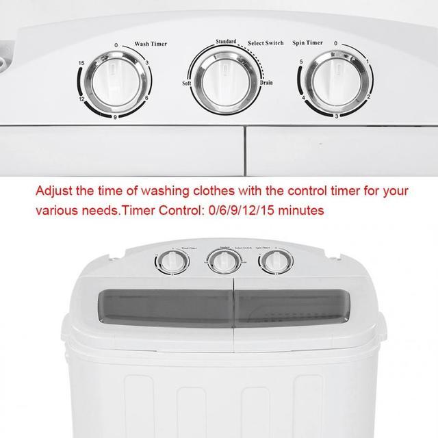 Lave-linge 2-en-1 lave-linge double baignoire lave-linge avec seau Spin-Drye forme lave-linge pour la maison