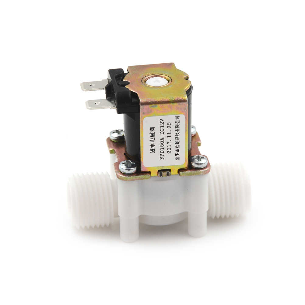 "1 pcs 12 v 전기 솔레노이드 밸브 마그네틱 dc n/c 물 공기 흡입구 흐름 1/2 ""dc 12 v 스위치"