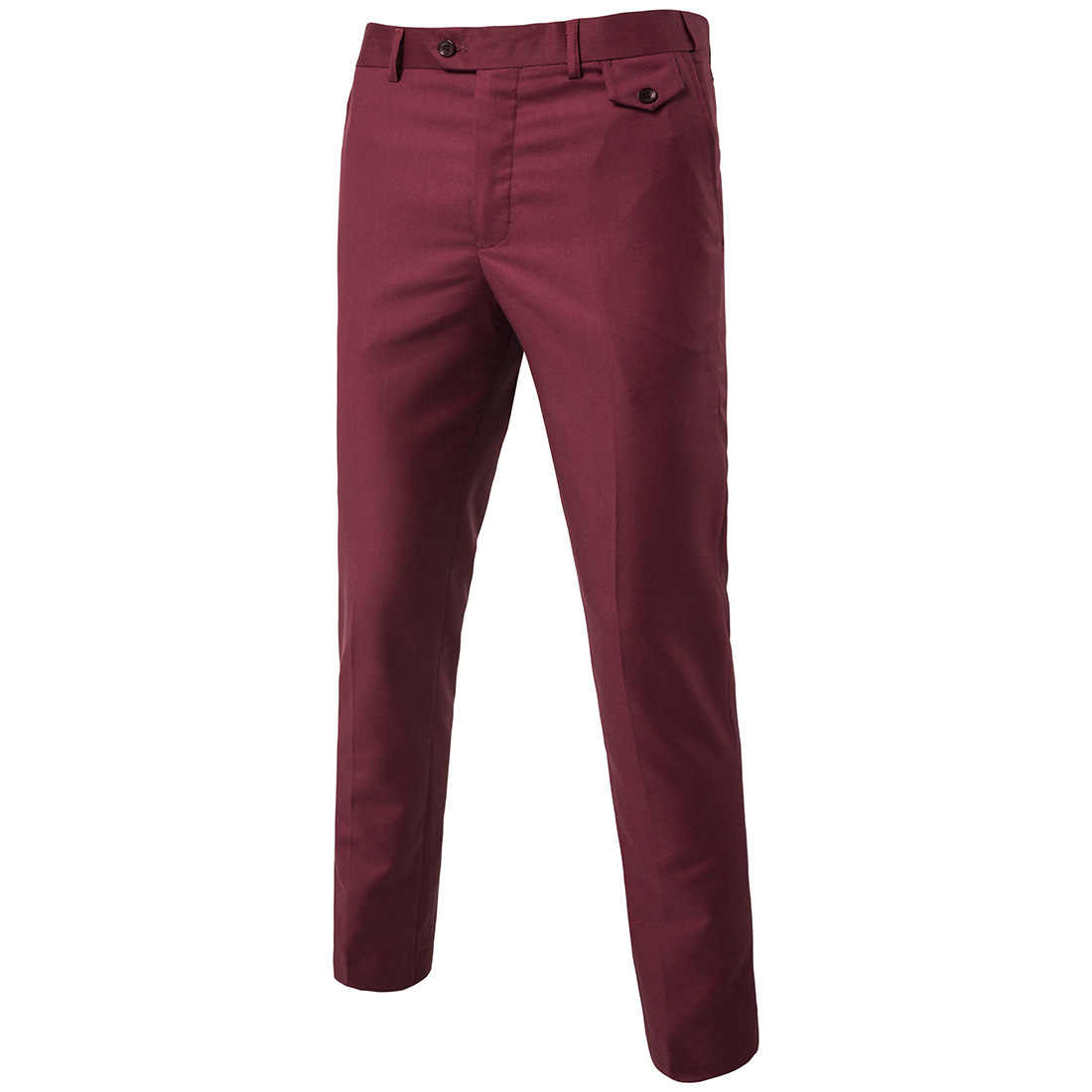 2019 Slim Fit קיץ דק מזדמן עסקי גברים פורמליות חליפת חתונת מכנסיים חתן בתוספת גודל מוצק צבע אסיה גודל מכנסיים