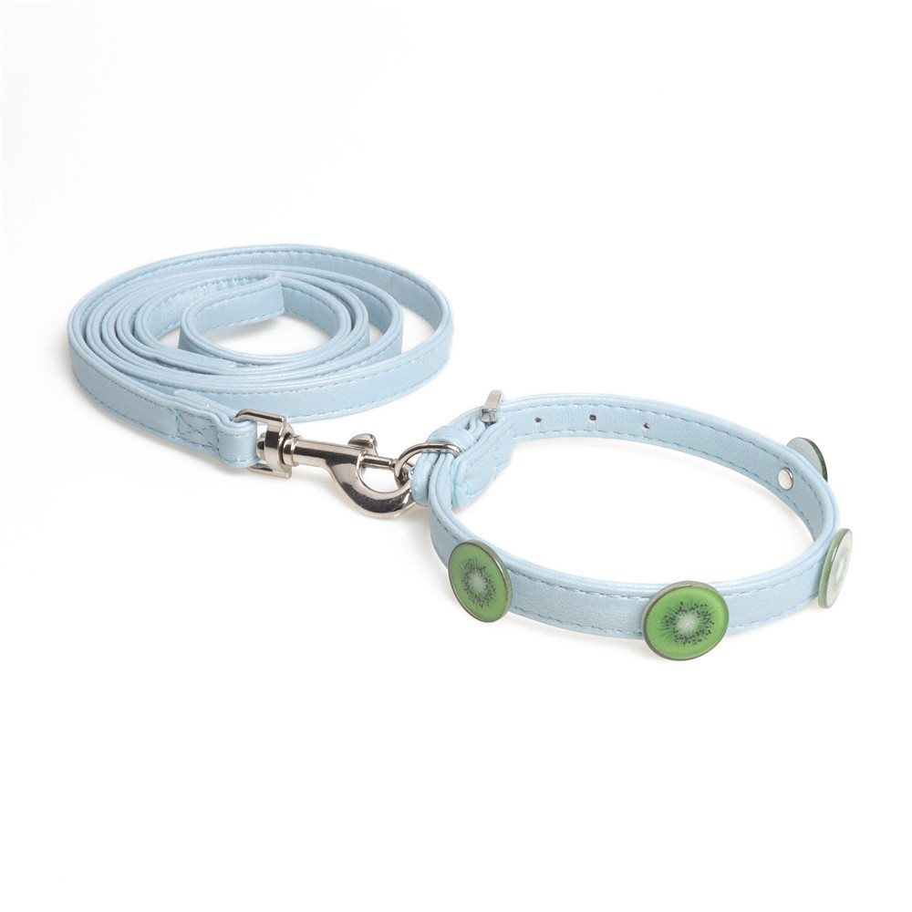 Jin Jie Te Creative Accessories Pet Collar Soft Pu Dog Neck Ring Hand Holding Rope