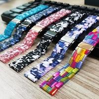 22mm 20mm Harz Strap für Samsung Galaxy Uhr 3 Band 41mm 45mm 46mm 42mm/aktive 2 1 Armband für Garmin Venu/SQ Vivoactive 4 3