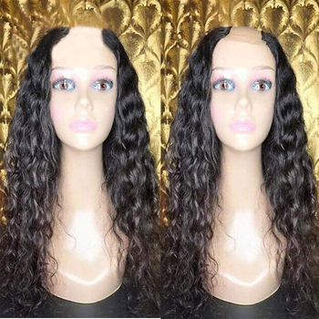 Kinky Curly U Part Wig Human Hair Wigs 1*3inch U opening 100% Brazilian Virgin Hair Wig Natural Color with straps/combs