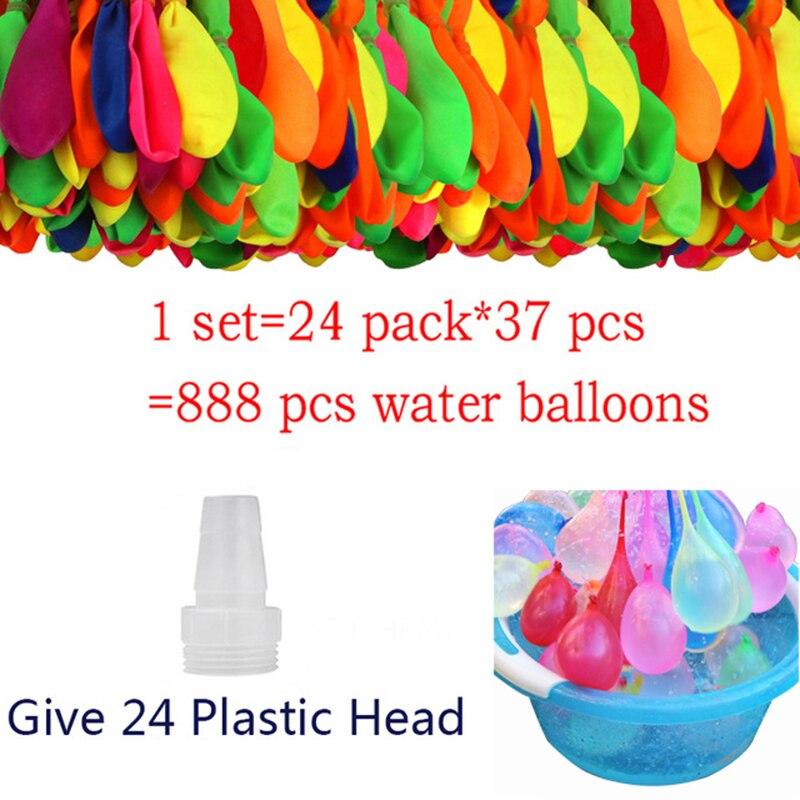 888Pcs Wasser Bomben Luftballons Schnell Füllen Magische Ballon Outdoor Spielzeug Für Kinder Wasser Spielzeug Spiele Sommer Strand Ball Party kinder Geschenk