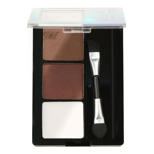 3 Colors Long Lasting Eyebrow Powder Shadow Palette with Soft Brush and Mirror brilliant eye makeup 1