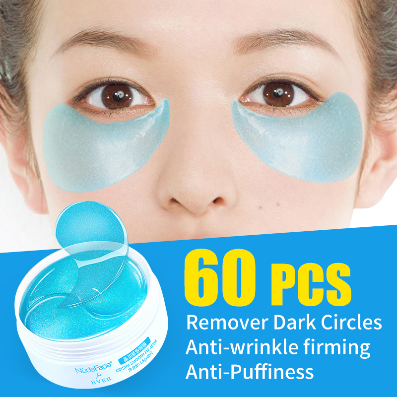 NudeFace Face Cosmetics Collagen Eye Patches Mask In Eyes Makeup Masks Crystal Eye Patches For Makeup Collagen Eye Zone Mask