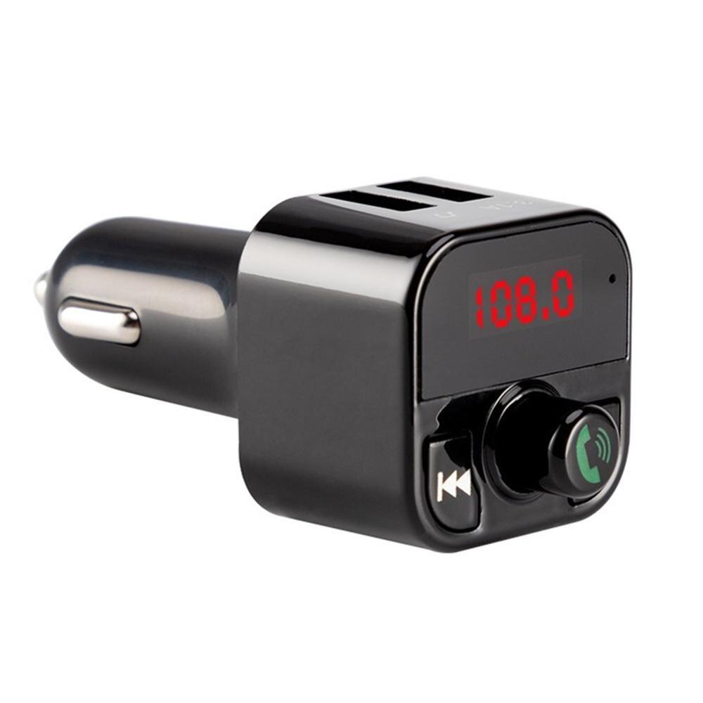 B5 Mini Car Mp3 Player Dual Usb 3.1A Hands Free Fm Transmitter Auto Voltage Display Micro-Sd Tf Music