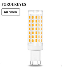 Ampoule G9 LED, ac 220/120V, lumière à intensité réglable, sans scintillement, 88, LED S, 2835, lampe à LED, G9, éclairage lustre halogène, 70W, remplace