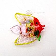 Floating Glass Bubble tropical Fish Ornament miniature sea animal figurine home Aquarium fish tank decor Accessories art Pendant
