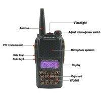 מכשיר הקשר dual band 2pcs Baofeng UV-6R 7W Dual Band VHF UHF רדיו מכשיר הקשר Ham Radio Hf משדר Walky טוקי מקצועי מכשיר הקשר (2)