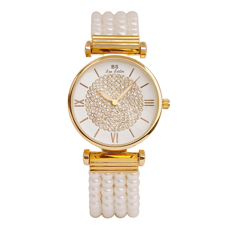 2019 New Luxury Pearl Bracelet Women Watches Women Gold Casual Quartz Watch Lady Bracelet Clock Hours Reloj Mujer Montre Femme