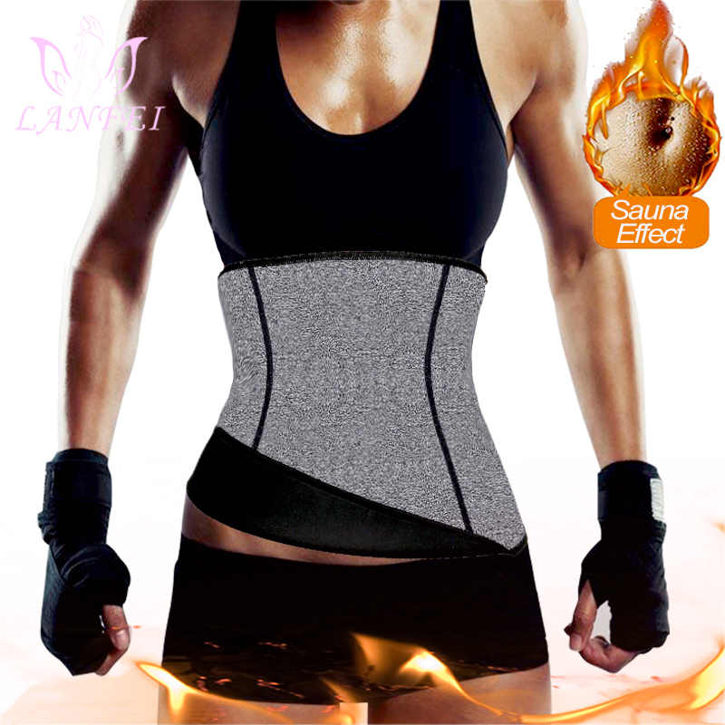 LANFEI เอวเทรนเนอร์สายรัด Slimming Belt Body Shaper ผู้หญิง Neoprene เอวสนับสนุน Girdle Band Corset Sport TOP