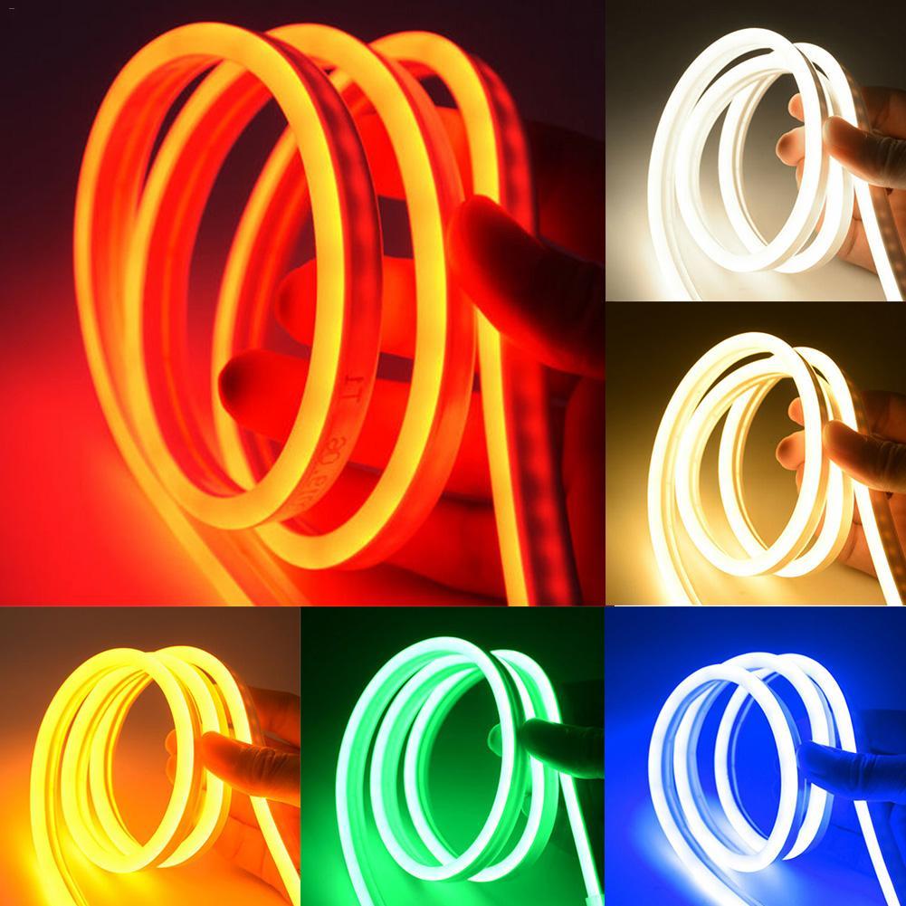 1M-5M Strip Tape Neon Light DC12V Tube LED Lights DIY Neon Sign Colorful Rainbow Led Light For Christmas Wedding Home Wall Decor