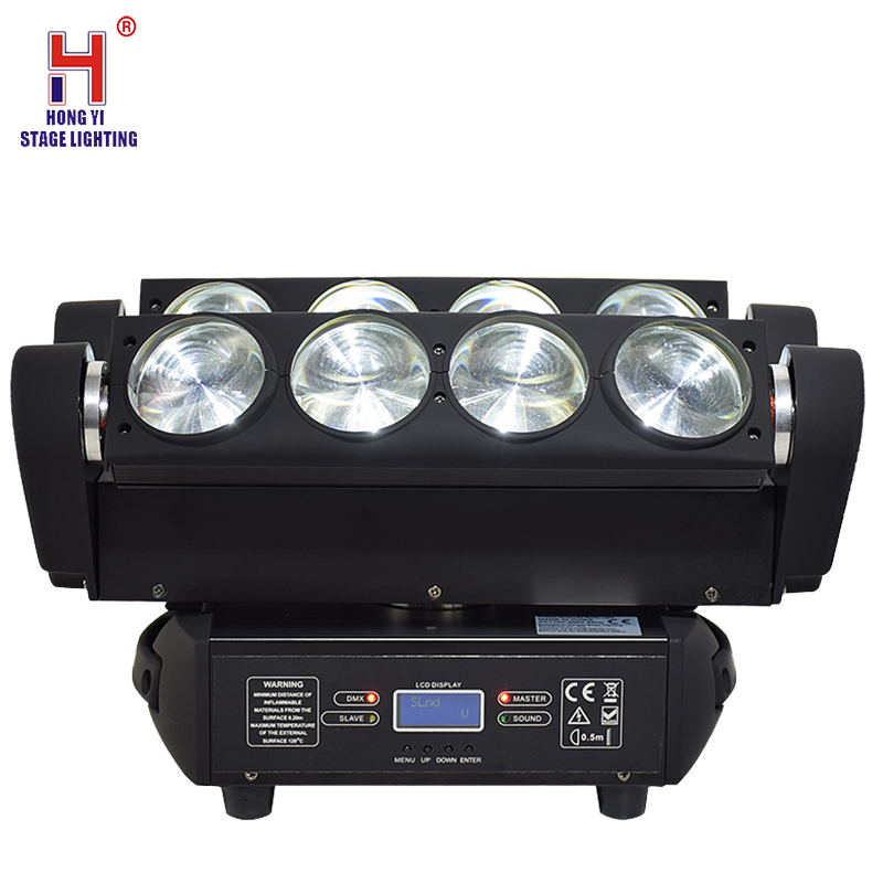 Moving Head Spider Light 8x12W RGBW Beam Moving Heads Stage Light DMX Control Professional Dj Lighting Equipment For Bar Wedding