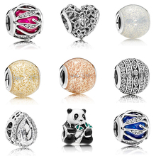 Summer Colletion Wholesale 100% 925 Sterling silver Shiny Ball charms Fit Pandora Bracelet Beads For Jewerly Making Gift