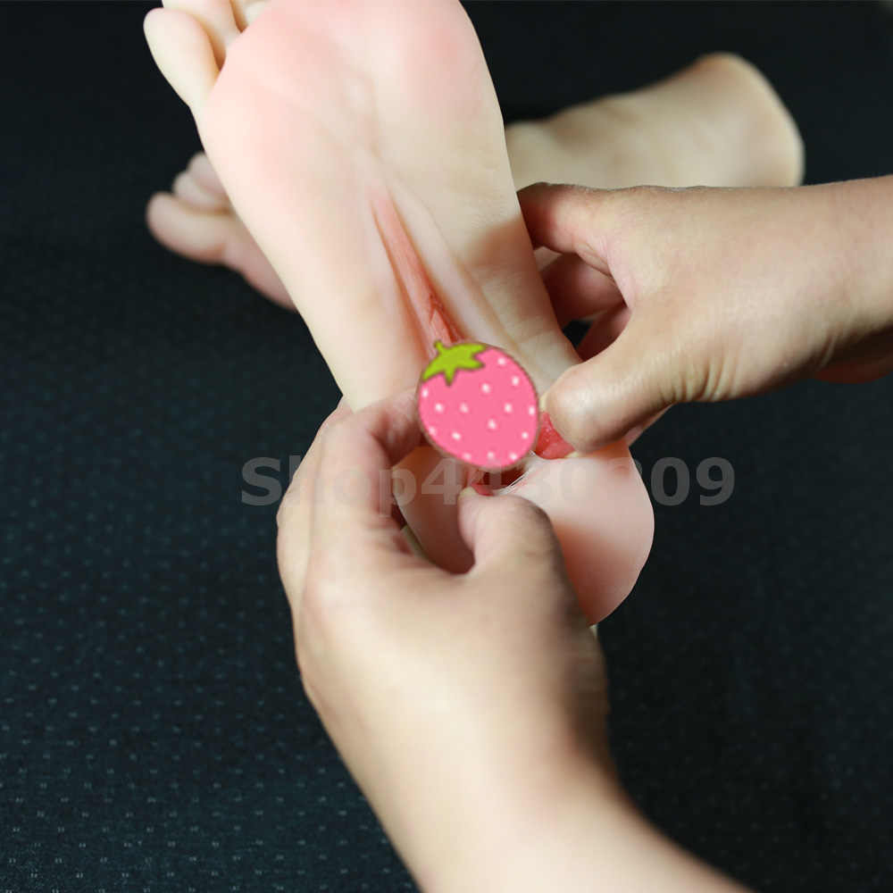 Real Feel Silicone Artificial Skin Feet Model, EU Size 38, Real Pocket Pussy Toys Sex Products Foot for Man