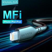 Cavo USB MFi KUULAA per iPhone 12 11 Pro Max X XS XR 8 7 6 Plus 2.4A cavo di ricarica USB a ricarica rapida cavo dati per Lightning