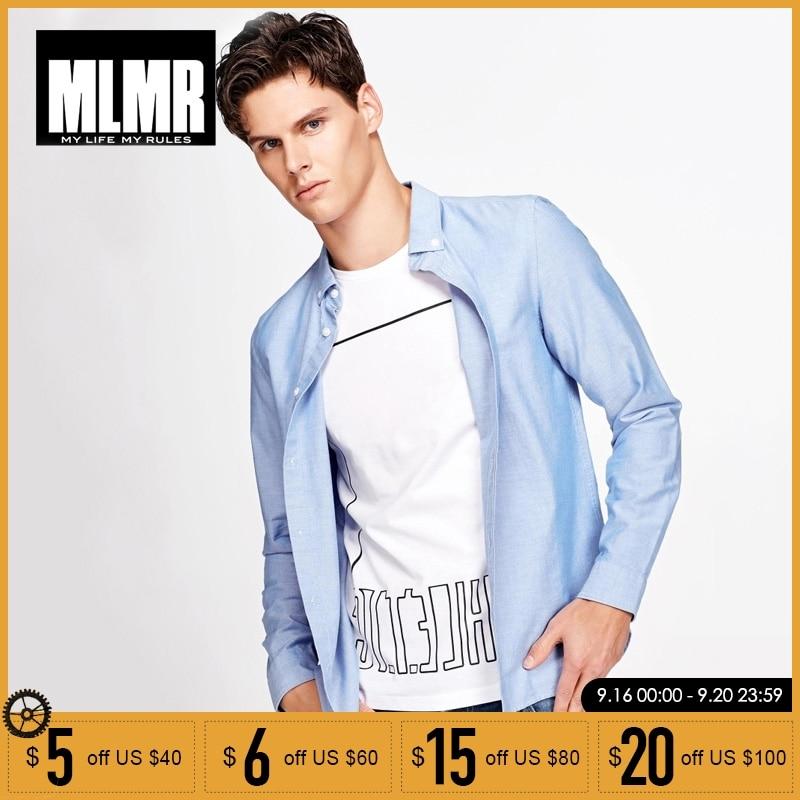 MLMR 2019 Spring Autumn Men Shirts Casual Cotton Long Sleeve Shirt  217305518