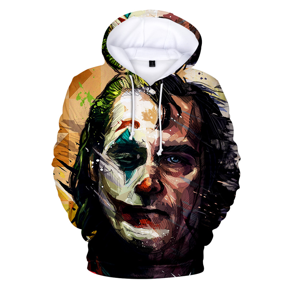 Movie Joker 2019 Women/Men Hoodies Fashion Casual Hooded Sweatshirt Spring Autumn Male Trend Harajuku Streetwear Hip Hop Clothes