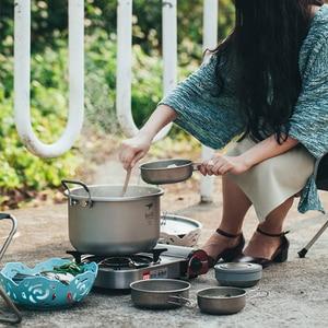Image 2 - Титановый кастрюль для супа объемом 6 л, Нетоксичная кухонная утварь для приготовления пищи, кемпинга, походов, охоты, пикника, 1 шт.