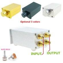 Fv3 controlador de volume preamp passivo, alta precisão, hifi, amplificadores ou alto falantes ativos com alps rk16